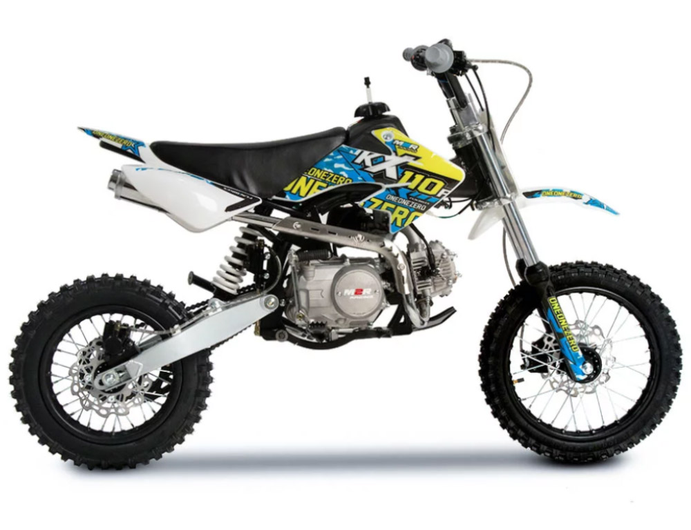 M2R RACING KX110F - Yellow and Blue